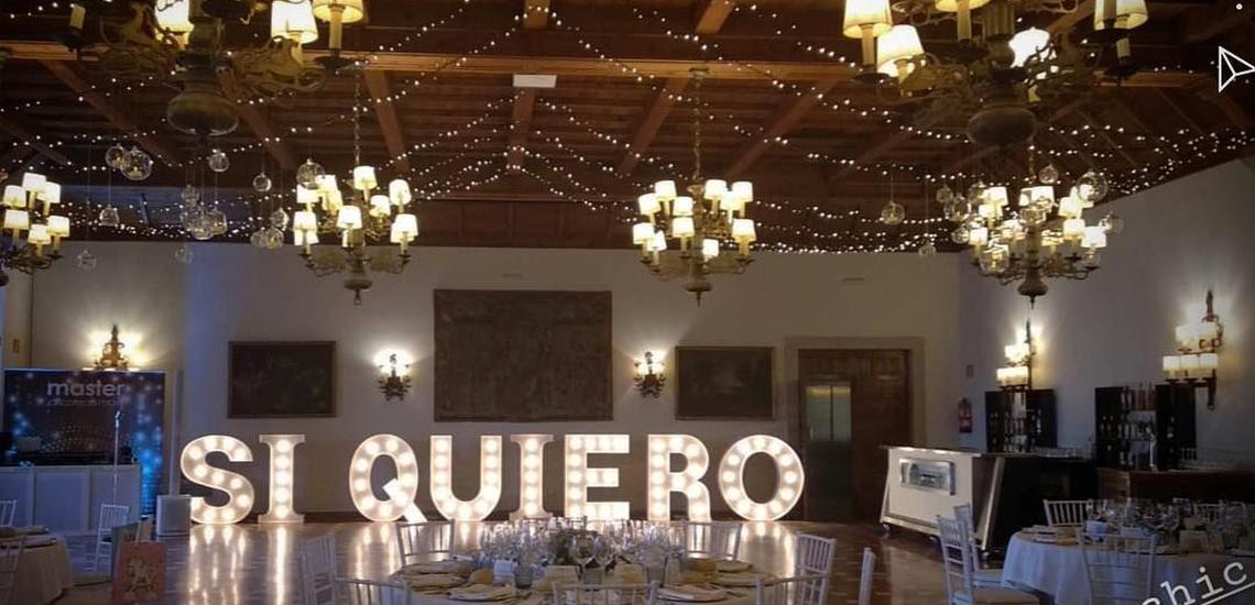 Letra luminosa en Pontevedra para interiores