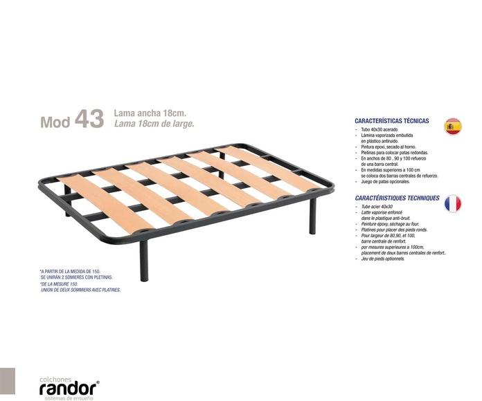 Somier lama ancha 18 - Randor