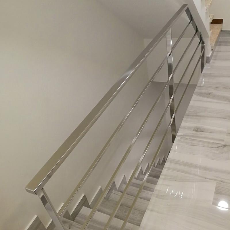 Barandilla de acero inoxidable sencilla para vivienda particular