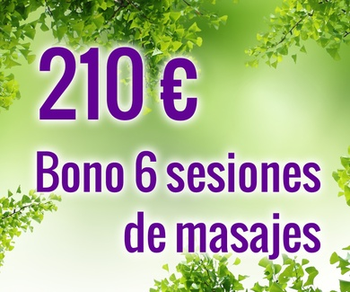 Bono 6 sesiones de masaje 210€
