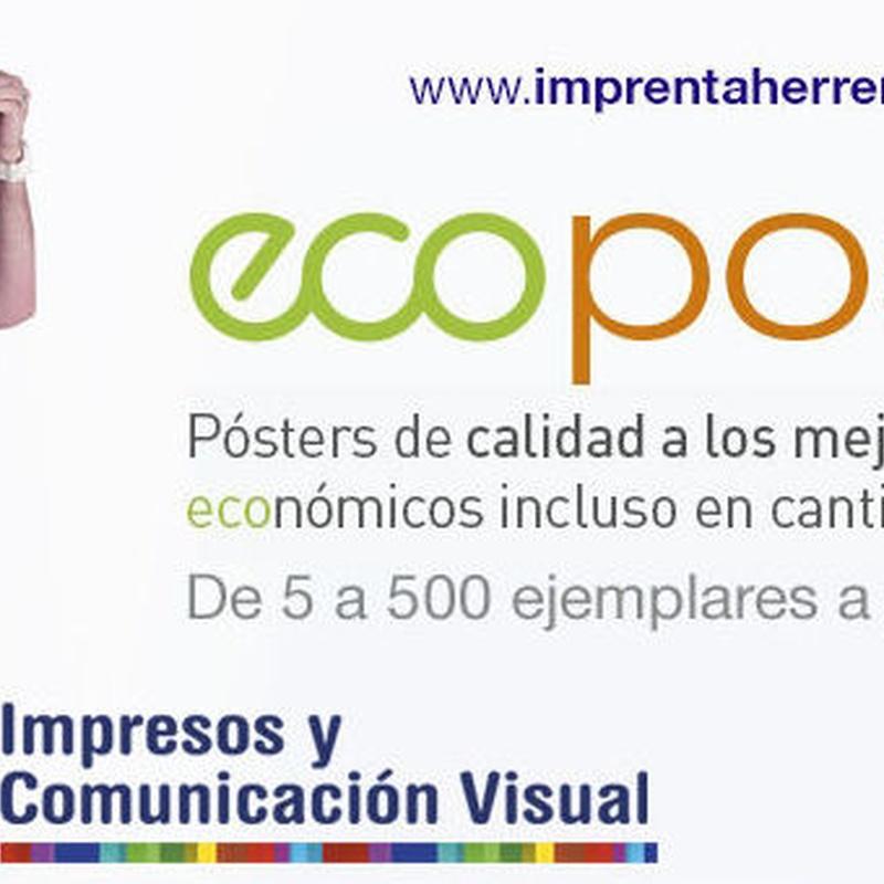 EcoPoster, alta calidad A PRECIO ECO