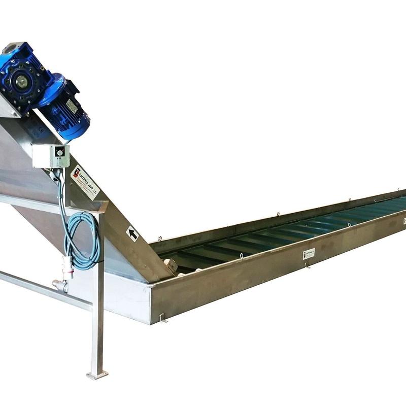 Cinta Transportadora Inox  PVC inundada en deposito para enfriamiento