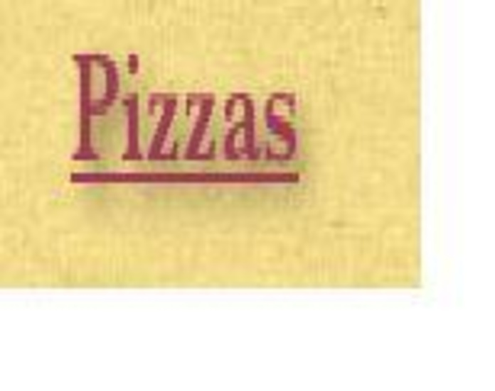 Pizzas: Carta de Restaurante Byp