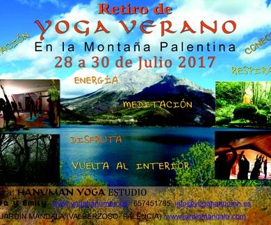 Retiro de Yoga Verano, en la Montaña Palentina, del 28 al 30 de Julio, 2017
