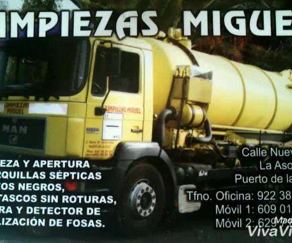 Desatascos urgentes en Tenerife | Limpiezas Miguel 24H