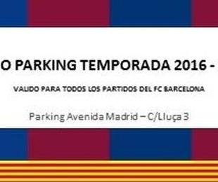 BONO PARKING TEMPORADA 2016 - 2017