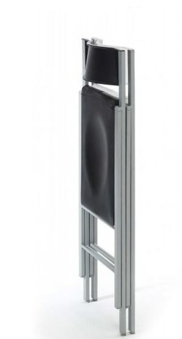 silla plegable fuerte modelo pisa en color negro