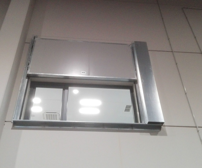 Puerta Corredera guillotina tipo ventana cortafuegos EI2-60 Santander