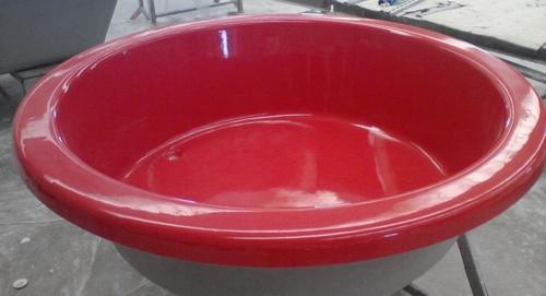 Bañera roja color