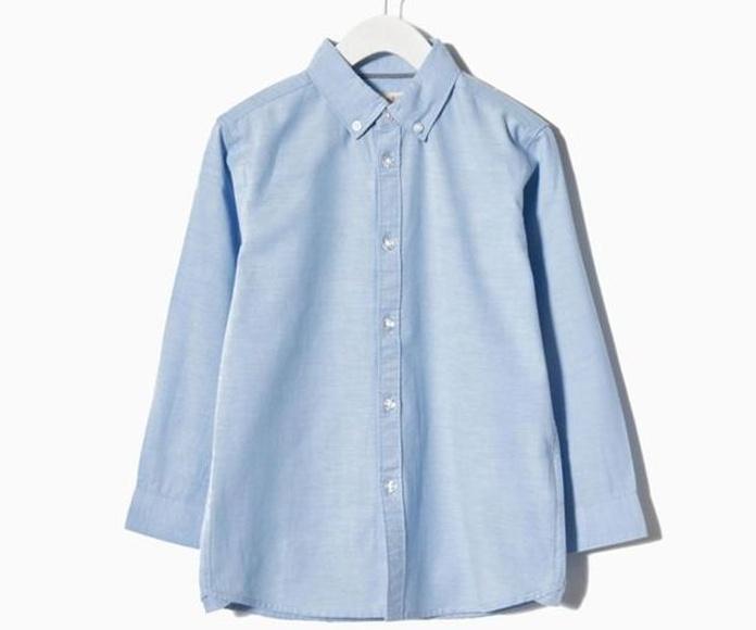 Camisa Oxford algodón celeste 14,99€