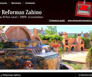 Nuevo diseño web www.obrasyreformaszahino.com