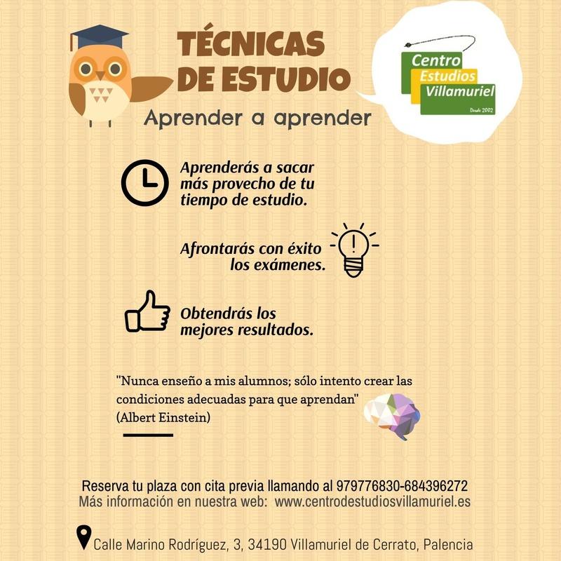 Aprende a estudiar con el método que necesitas : Oferta educativa  de Centro de Estudios Villamuriel