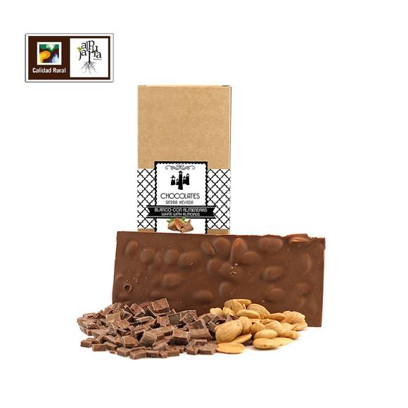 Tableta de chocolate artesano con leche y almendras: Nuestros productos de Chocolates Sierra Nevada