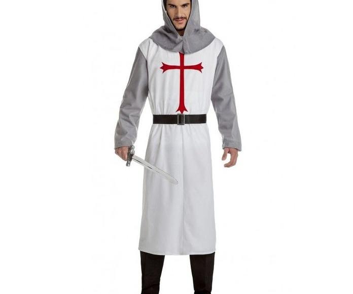 Disfraz cruzado medieval blanco
