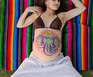 Sesiones Fotograficas de Premama mas dibujo en el vientre.