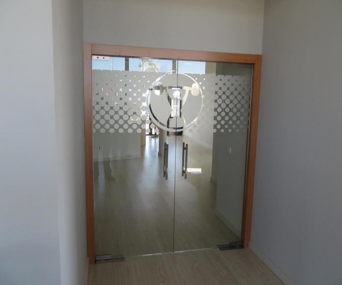 puertas de cristal. Cristalera Madrileña
