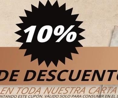 10 % de Descuento en nuestra carta