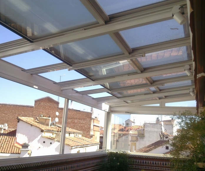 Cerramiento lateral y superior de terraza techo automatico