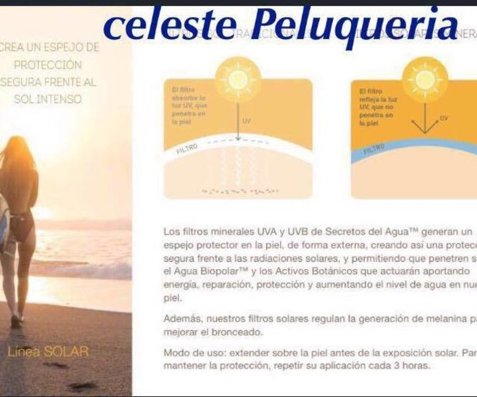 Linea solar en Celeste Peluquería