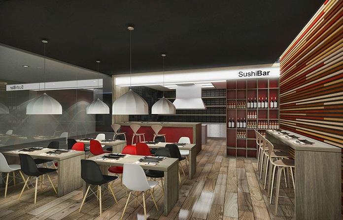 PRVLS Diseño de restaurante japonés: Servicios y Proyectos de XTE INTERIORISMO
