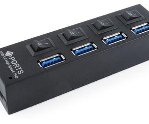ADAPTADOR/HUB 4 PUERTOS USB 3.0 CON INTERRUPTOR W10 COMPATIBLE UHB-U3P4-02