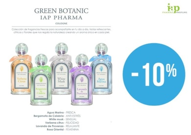 DESCOMPTE DEL 10 % EN IAP PHARMA PARFUMS GREEN BOTANIC