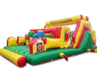 Castillo hinchable tobogan patrulla arco central: Catálogo de Hinchables Happy Jump