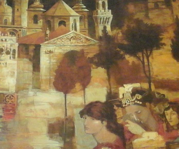 Detalle serigrafía de Peter Nixon  90 x 67.5