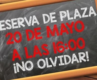 Reserva de Plaza Curso 2019/2020