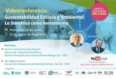 Videoconferencia: Sustentabilidad Edilicia y Ambiental