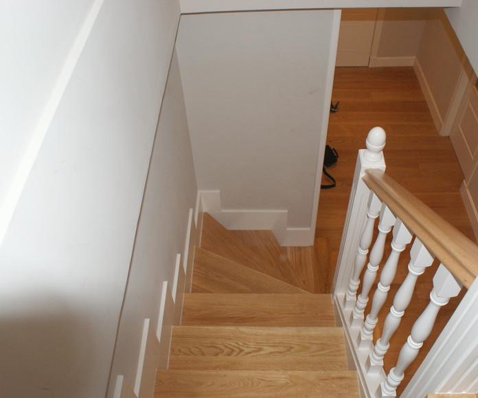Escaleras de madera a medida , lacadas: Catálogo de Carpintería Madera y Arte