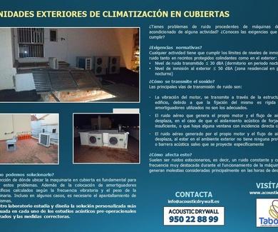 UNIDADES EXTERIORES DE CLIMATIZACIÓN EN CUBIERTAS