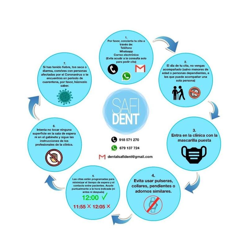 Retomamos nuestra actividad habitual: Servicios de Clínica Dental Safident
