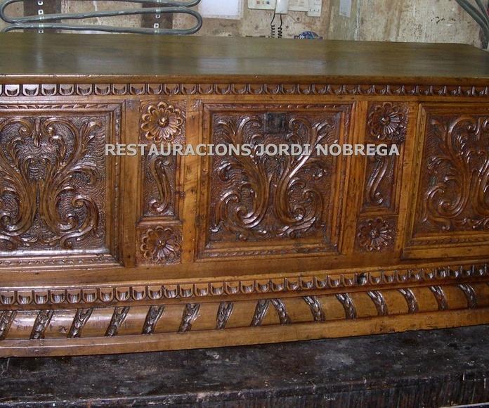 Restauración arcas en Barcelona