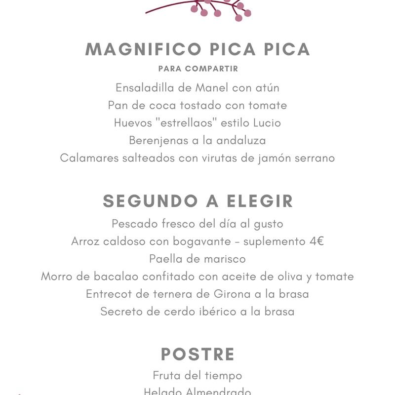 Menú Especial Grupo Nº 1: Carta de Restaurant Mundial