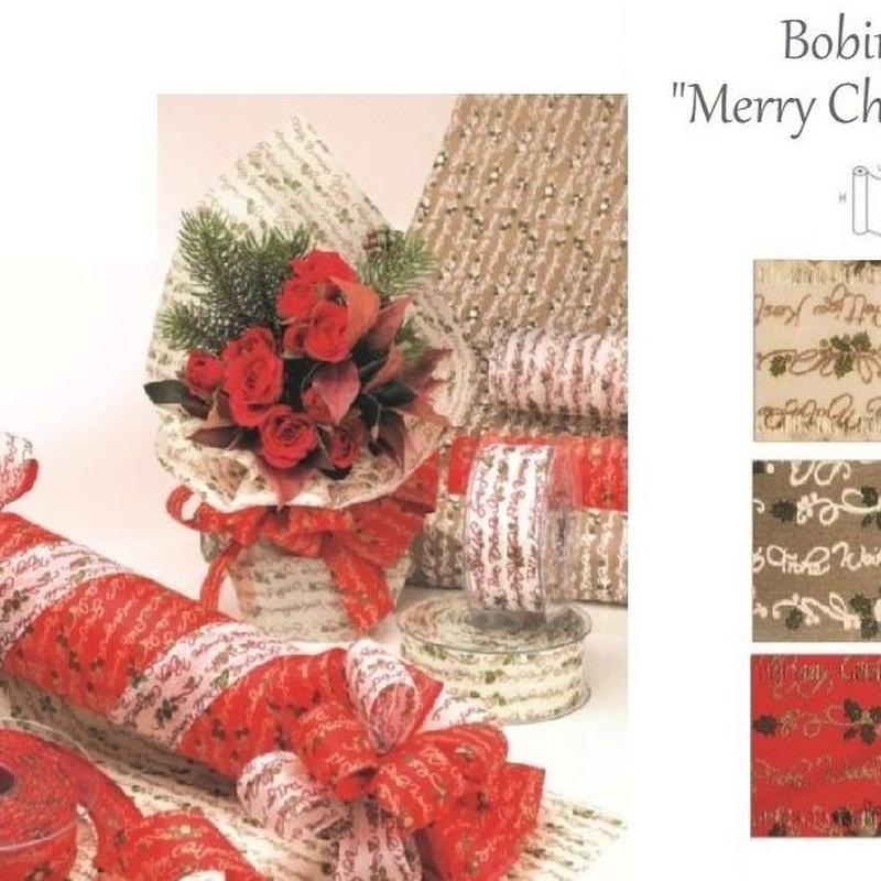 """BOBINA MODELO """"Merry Christmas"""" 530MM x 9MT REF: 0181 PRECIO: 6,50€"""