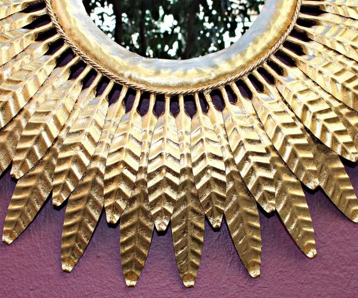 Espejo Sol de forja años 60: Artículos  de Ruzafa Vintage