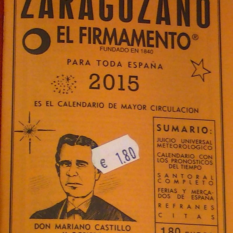 Calendario zaragozano de mesa o bolsillo