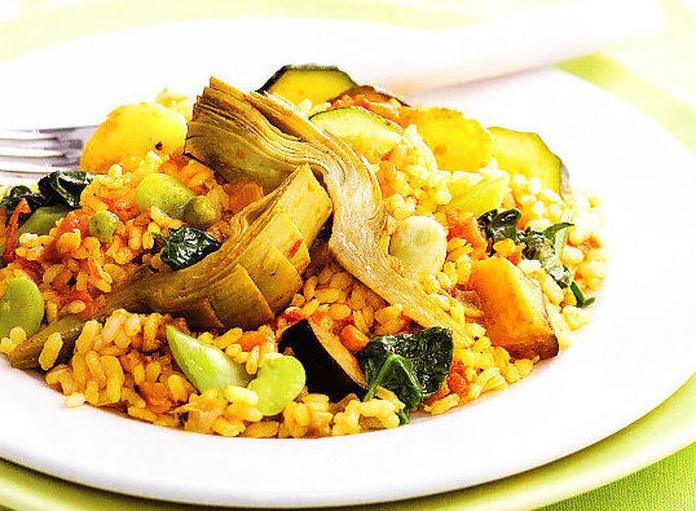 Paella de Verduras: CARTA EL SEVILLANO de Restaurante Rincón del Sevillano