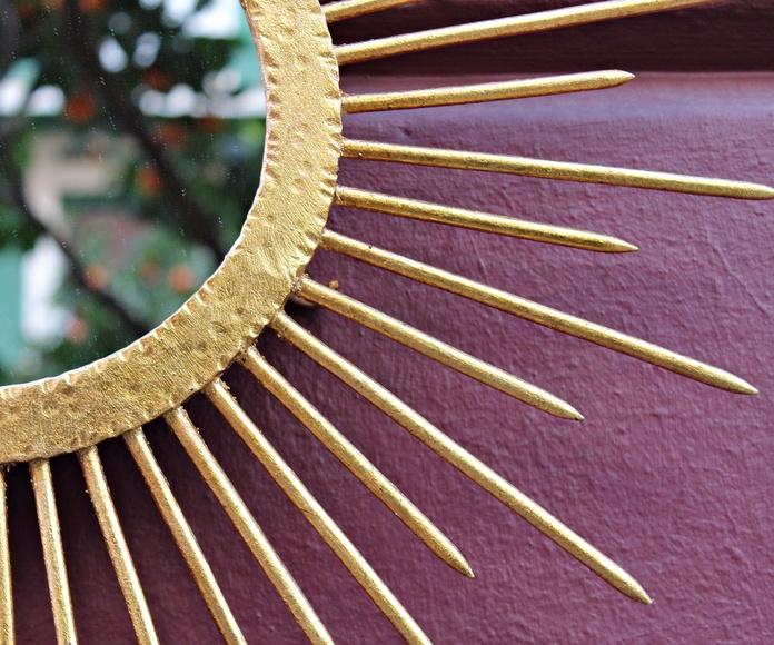 Espejo sol de forja y pan de oro: Artículos  de Ruzafa Vintage
