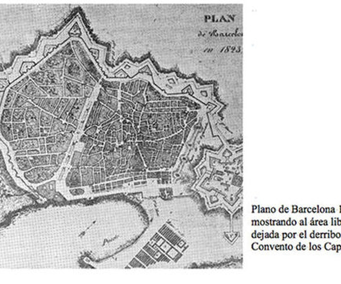 Zona concurso Plaza Real 1850. Barcelona