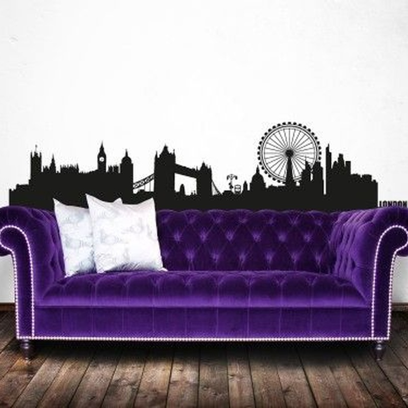 Wall sticker vinilo decorativo London Skyline en Barcelona