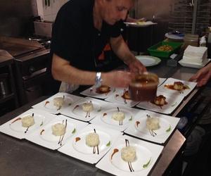 Montaditos de batata con bacalao