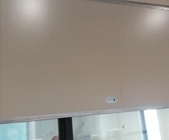 Cierre de Puerta Corredera  guillotina tipo ventana cortafuegos EI2-60 Santander