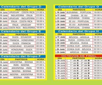 Mundial Brasil 2014: Nuestros Productos de Gráficas Kalendex