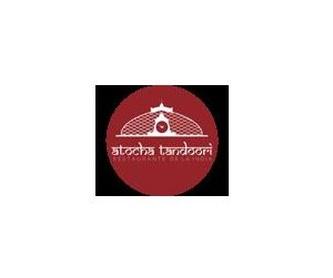 Bread with cheese, garlic, chili and coriander: Menu de Atocha Tandoori Restaurante Indio