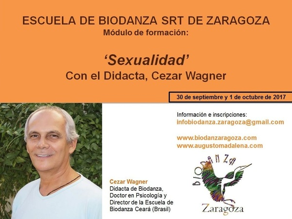 Módulo 'Sexualidad' en la Escuela de Biodanza de Zaragoza, a cargo de Cezar Wagner