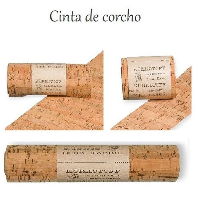 CINTA DE CORCHO CON RESPALDO DE TELA (50% polyester, 50% cotton) (COL 79, 782 NATURAL) // 25CM x 1,5 MT REF: 75349-250-(COL) PRECIO: 7,90€// 12CM x 2MT REF: 75349-120-(COL) PRECIO: 5,75€// 6CM x 3MT REF: 75349-060-(COL) PRECIO: 4,95€