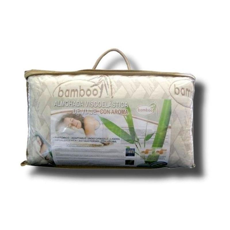 Almohada viscoelástica de viaje Bamboo ---12€: Productos y Ofertas de Don Electrodomésticos Tienda online