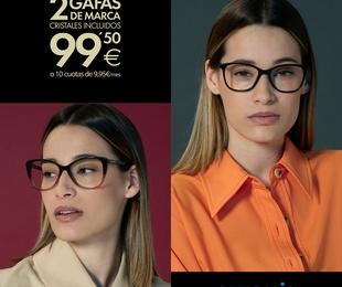 ¿2 gafas de primeras marcas por SÓLO 99,50€? ¡Sí, has leído bien!